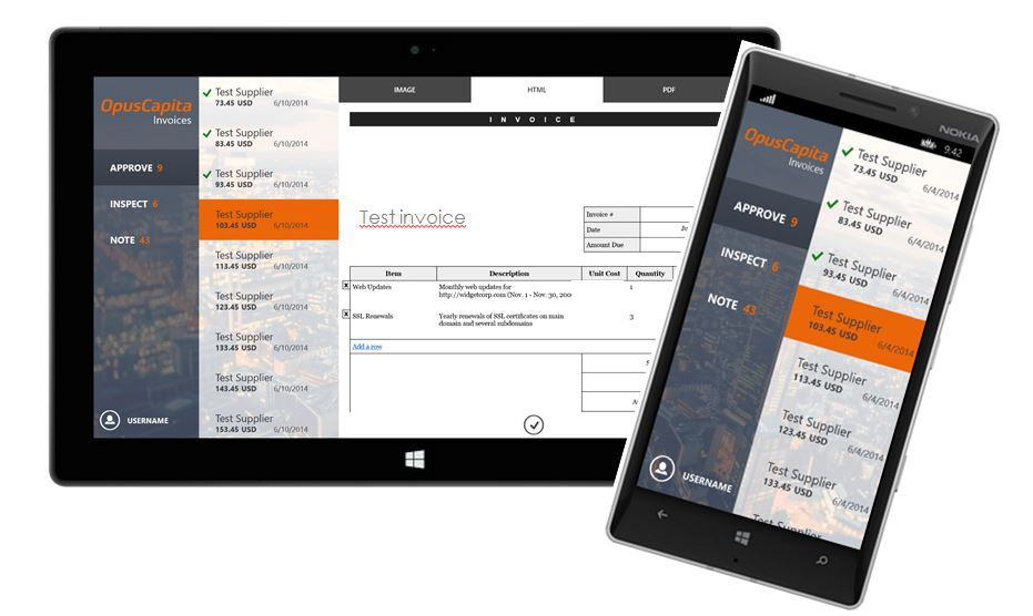 Handy mobile solution from OpusCapita: process your invoices on a tablet or smartphone