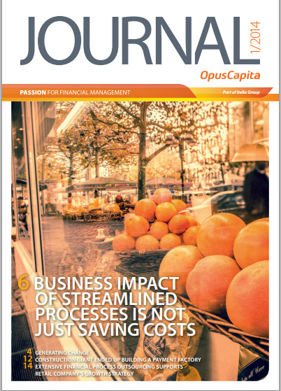 "The fresh number of OpusCapita's ""Journal – Passion for Financial Management"" is now available"