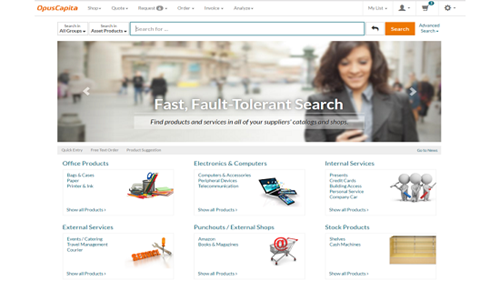 Our eProcurement solution offers fast, fault-tolerant search