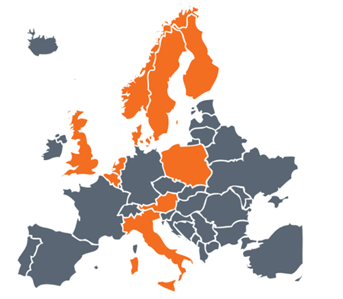 PEPPOL network in Europe