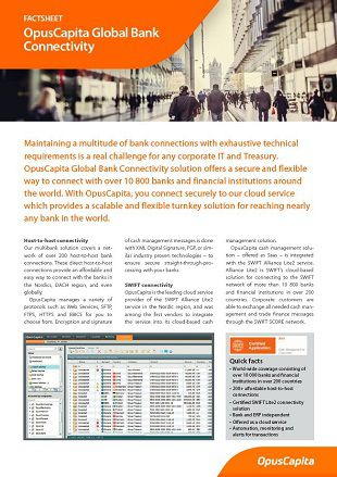 Global Bank Connectivity factsheet