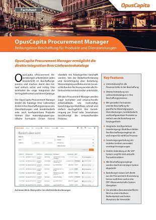 Procurement Manager Factsheet